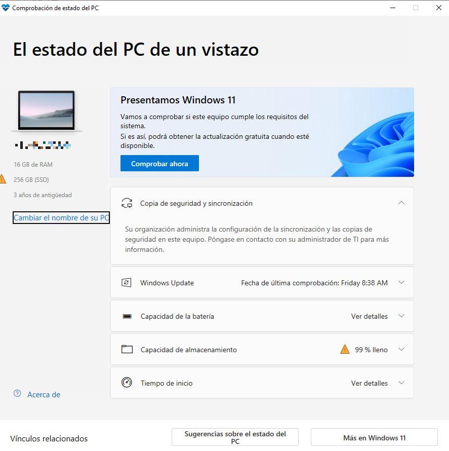 PC Health de Microsoft