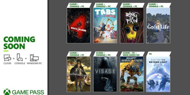 Próximamente en Xbox Game Pass: Back 4 Blood, Destiny 2: Beyond Light para PC y más